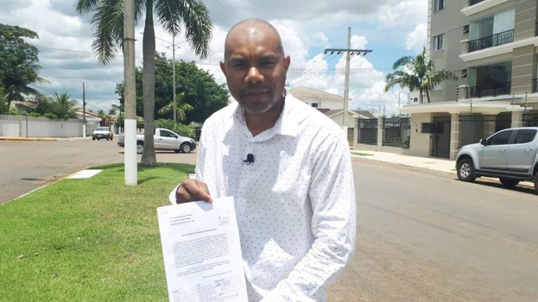 Moradores do Bairro Jardim Riva II protocola abaixo assinado ao executivo solicitando redutor de velocidade