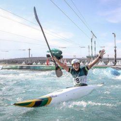 Ana Sátila tem bom desempenho e se garante na semifinal da canoagem slalom